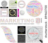 marketing. concept illustration.... | Shutterstock .eps vector #89463700