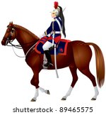 french republican guard... | Shutterstock .eps vector #89465575
