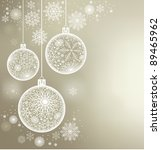 christmas background of c balls ... | Shutterstock .eps vector #89465962