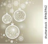 christmas background of c balls ... | Shutterstock .eps vector #89465962
