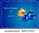 merry christmas card with... | Shutterstock .eps vector #89477473
