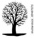 abstract black tree | Shutterstock .eps vector #89487073