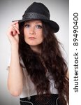fashionable woman in a hat | Shutterstock . vector #89490400
