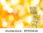 a gold christmas gift...   Shutterstock . vector #89503636