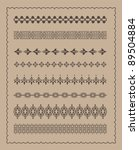 lace border set vector | Shutterstock .eps vector #89504884