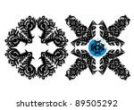 black decorative snowflake on...   Shutterstock .eps vector #89505292