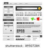 hi end grayscale web interface... | Shutterstock .eps vector #89507284