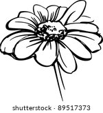 sketch wild flower resembling a ... | Shutterstock .eps vector #89517373