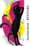 dancing vector girl   black... | Shutterstock .eps vector #89525182