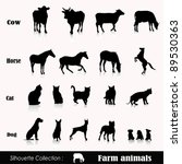 Stock vector vector set illustration farm animals isolated on white 89530363