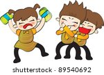 happy days and  funny life | Shutterstock .eps vector #89540692