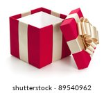 open gift box  isolated on the... | Shutterstock . vector #89540962