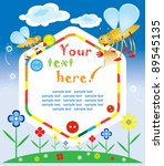 baby greeting card or invitation | Shutterstock .eps vector #89545135