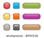 steel and glass buttons. | Shutterstock .eps vector #8954518