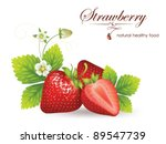 beautiful strawberries. vector...