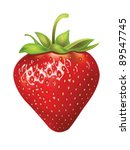 beautiful strawberries. vector... | Shutterstock .eps vector #89547745