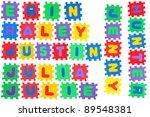 the names erin  haley  justin ... | Shutterstock . vector #89548381