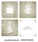 simple vector grunge christmas... | Shutterstock .eps vector #89549305