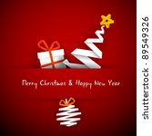 simple vector red christmas... | Shutterstock .eps vector #89549326