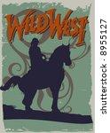 vector western poster design | Shutterstock .eps vector #8955127