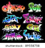graffiti urban art vector set | Shutterstock .eps vector #89558758