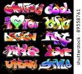 graffiti urban art vector set   Shutterstock .eps vector #89558761