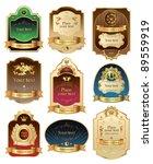 vector set framed labels | Shutterstock .eps vector #89559919