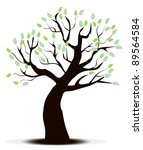 vector tree with green leaves | Shutterstock .eps vector #89564584