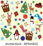 vector christmas or new year... | Shutterstock .eps vector #89564602