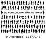 Silhouettes of business people walking on the street