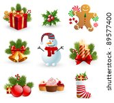christmas object element   fir... | Shutterstock .eps vector #89577400