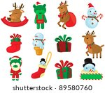 illustration of isolated set of ... | Shutterstock . vector #89580760