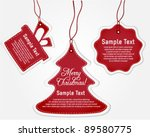 collection of red christmas... | Shutterstock .eps vector #89580775