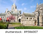11th century Gothic style Christ Church Cathedral (Cathedral of the Holy Trinity) in Dublin, Ireland - stock photo