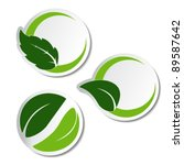 vector natural stickers with... | Shutterstock .eps vector #89587642