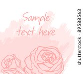 stylish floral background with...   Shutterstock .eps vector #89588563