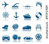 transportation icon set | Shutterstock .eps vector #89591989