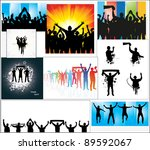 set of posters for sports... | Shutterstock . vector #89592067