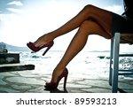 Sexy Summer Legs In High Heels...
