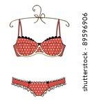 lingerie | Shutterstock .eps vector #89596906