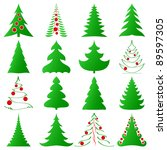 symbolic christmas trees... | Shutterstock .eps vector #89597305