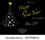 new year party invitation.... | Shutterstock .eps vector #89598841