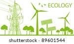 wind alternative energy...   Shutterstock .eps vector #89601544