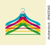 clothes hanger | Shutterstock .eps vector #89605360