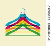 Stock vector clothes hanger 89605360