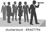 business person uses telescope...   Shutterstock . vector #89607796