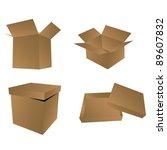 set of boxes. vector... | Shutterstock .eps vector #89607832