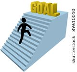 person climbs stair steps to...   Shutterstock .eps vector #89610010