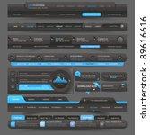 web site  design template... | Shutterstock .eps vector #89616616