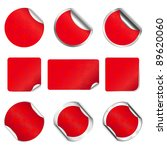 set raster red christmas and... | Shutterstock . vector #89620060